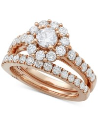 Marchesa Certified Diamond Bridal Set 2 Ct. T.W. In 18K Gold White Gold Or Rose Gold