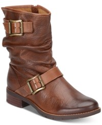 Sofft Saxton Ruched Boots Women's Shoes Whiskey