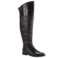 Kin By John Lewis Seline Long Leather Knee Boots Black