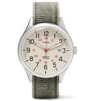 Timex Waterbury United Stainless Steel And Stonewashed Canvas Watch Green