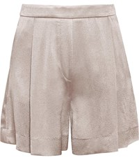 Reiss Aria Short Tailored Shorts In Silver