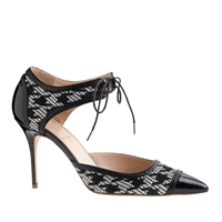 J.Crew Houndstooth Mary Janes Black
