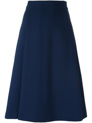 P.A.R.O.S.H. Knee Length A Line Skirt Blue