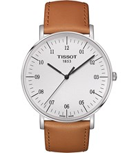 Tissot T109.610.16.037.00 Everytime Stainless Steel And Leather Watch
