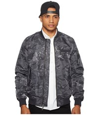 Members Only Mo 1 Jacquard Bomber Charcoal Men's Coat Gray
