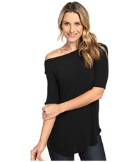 Allen Allen Elbow Sleeve Off The Shoulder Black Women's Clothing
