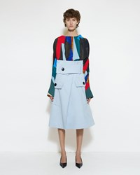 Marni Front Pocket Wrap Skirt Arctic