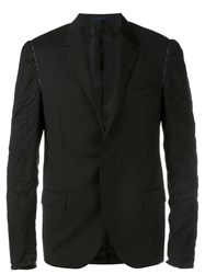 Lanvin Creased Sleeve Blazer Black