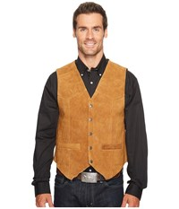 Scully Rugged Calf Suede Vest Rust Red