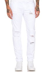 Stampd Distressed Panel Denim White