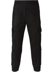 Neil Barrett Tapered Cargo Trousers Black