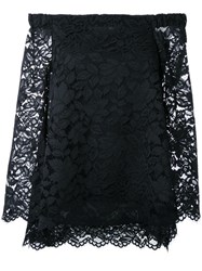 Scanlan Theodore Lace Cold Shoulder Blouse Black