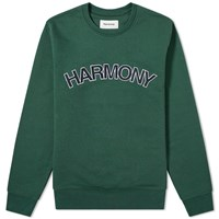 Harmony Suny Logo Crew Sweat Green