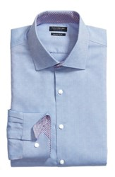 Tailorbyrd Big And Tall Ashur Trim Fit Solid Dress Shirt Blue