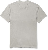 James Perse Slim Fit Cotton Jersey T Shirt Gray