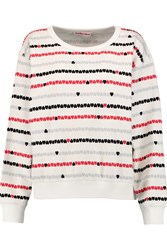 See By Chloe Printed Stretch Cotton Jersey Sweatshirt White