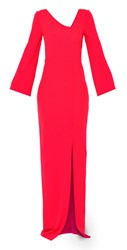 Maiocci Collection Long Evening Dress Red