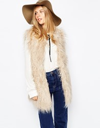 Pull And Bear Pullandbear Fur Gilet Grisclar