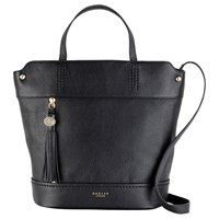 Radley Roman Road Leather Large Grab Bag Black