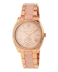 Michael Michael Kors Rose Golden Pave Crystal Jet Set Sport Watch No Color