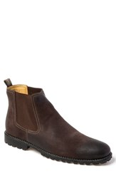 Sandro Moscoloni Cyrus Lugged Chelsea Boot Brown Leather