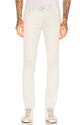 Stampd Distressed Skinny Jeans Cream Bleach