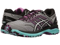 Asics Gt 2000 5 Trail Aluminum Silver Orchid Women's Running Shoes Gray