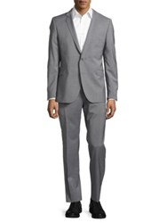 Strellson Two Button Wool Suit Charcoal