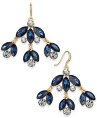 Charter Club Gold Tone Blue Stone Chandelier Earrings Only At Macy's