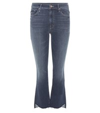 Mother The Insider Crop Step Fray Jeans Blue