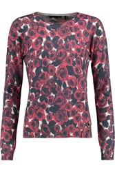 Love Moschino Rose Print Knitted Sweater