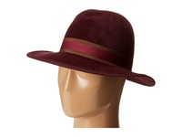 Hat Attack Velour Luxury Medium Brim Burgundy Chestnut Burgundy Traditional Hats Red