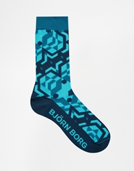 Bjorn Borg Temple Wall Socks Blue