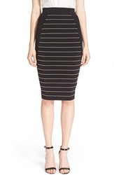 Women's Ted Baker London 'Shelpa' Metallic Stripe Midi Skirt
