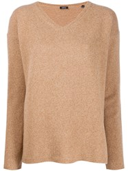 Aspesi V Neck Fine Knit Jumper Do Not Use Two Do Not Use Two Tone