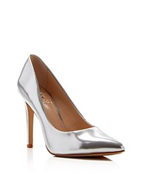 Vince Camuto Kain Pointed Toe Pumps Cool Silver