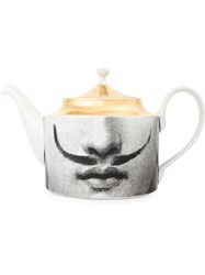 Fornasetti Face Print Tea Pot Multicolour