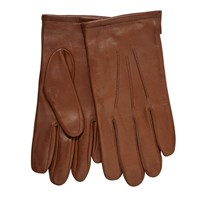 John Lewis Fleece Lined Leather Gloves Tan