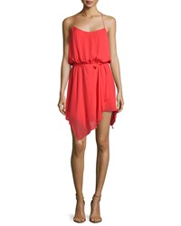 Haute Hippie Racerback Tank Dress W Tie Red