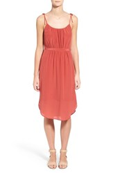 Women's Madewell Tie Strap Silk Midi Dress