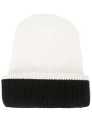 The Elder Statesman 'Plaited Kisser' Beanie White