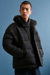 Urban Outfitters Uo Puffer Jacket Black