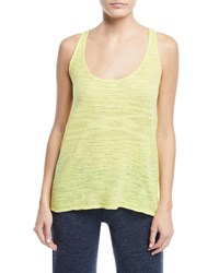 Minnie Rose Linen Blend Racerback Tank Plus Size Margarita