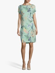 Betty And Co. Floral T Shirt Dress Emerald Blue
