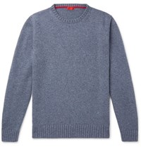 Isaia Slim Fit Cashmere Sweater Blue