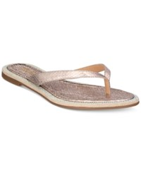 Thalia Sodi Beda Embellished Flat Sandals Only At Macy's Women's Shoes Silver
