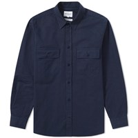 Norse Projects Villads Twill Shirt Blue