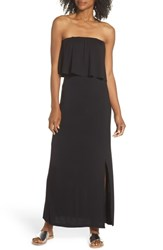Fraiche By J Strapless Popover Maxi Dress Black