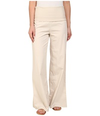 Xcvi Fold Over Palazzo Sea Salt Women's Casual Pants Multi