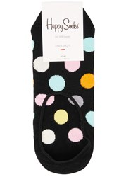 Happy Socks Polka Dot Low Cut Cotton Blend Black
